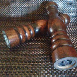 Vintage Tall Wooden Salt & Pepper Grinder